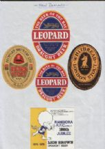 different old Beer bottle labels New Zealand  #104